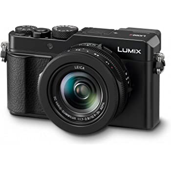 "Panasonic Lumix LX100 II Large Four Thirds 21.7 MP Multi Aspect Sensor 24-75mm Leica DC VARIO-SUMMILUX F1.7-2.8 Lens Wi-Fi and Bluetooth Camera with 3"" LCD, Black (DC-LX100M2)"