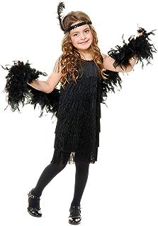فستان أزياء فلابر للأطفال من تشاردز اسود Small