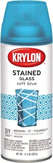 Krylon K09029000 Stained Glass Aerosol Paint, 11.5 oz, Soft Blue, 6 1