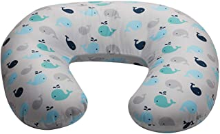 NurSit Basic Nursing Pillow and Positioner, Whales Print