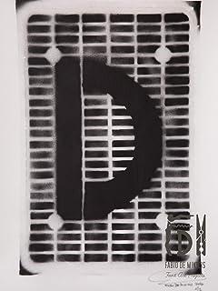 Letra D ABC Hort por Fabio De Minicis - Lienzo original 1/7-50 x 70 cm.