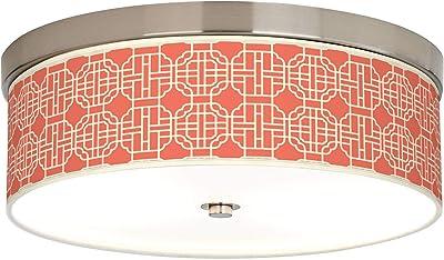 Amazon.com: Smoke Lattice Giclee - Lámpara de techo de bajo ...