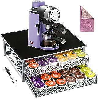 Myiosus Dolce Gusto Rack 2 tiroirs à capsules pour 72 capsules de café, support pour machine à café et boîte de rangement ...