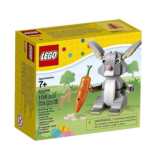 Lego mignon lapin blanc animal avec panier et carotte NEUF