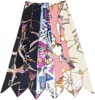 Fashion Bag Scarf Handbag Handle Ribbon Neck Scarf for Women's Package Band Bracelet Hair Head