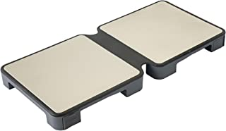 MyHotMat Modular 2 Dish Foldable Warming Trays, Buffet Style, Adjustable Heated Plates for Stylish Serving in Events, Home Parties, Restaurants, Pack of 1, Gray