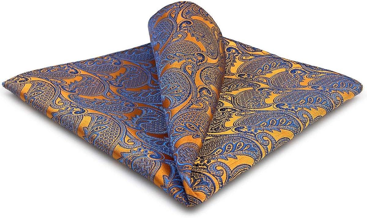 S&W SHLAX&WING Men's Neckties Ties Orange Pumpkin Paisley