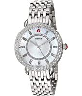 Michele - Sidney Classic White Mother-of-Pearl with Diamonds, Silver