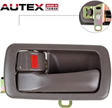 AUTEX Door Handle Brown Interior Compatible with Toyota Camry 1992-1996 Door Handle Front/Rear Left Driver Side 80493