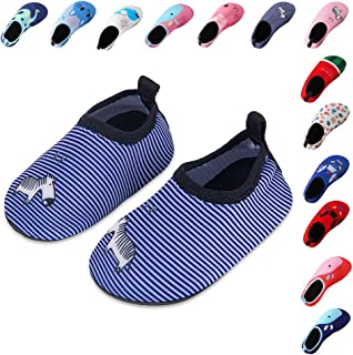 Lauwodun Baby Boys Girls Water Shoes Barefoot Aqua Sock Shoes for Beach Pool Surfing Yoga Swimming Walking
