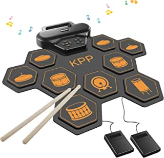 Electronic Drum Set,Drum Pads Kit with Headphone Jack Built-in Speaker,Drum Pedals,Drum Sticks,Foot Pedals,Gift for Christmas Holiday Birthday for Kids