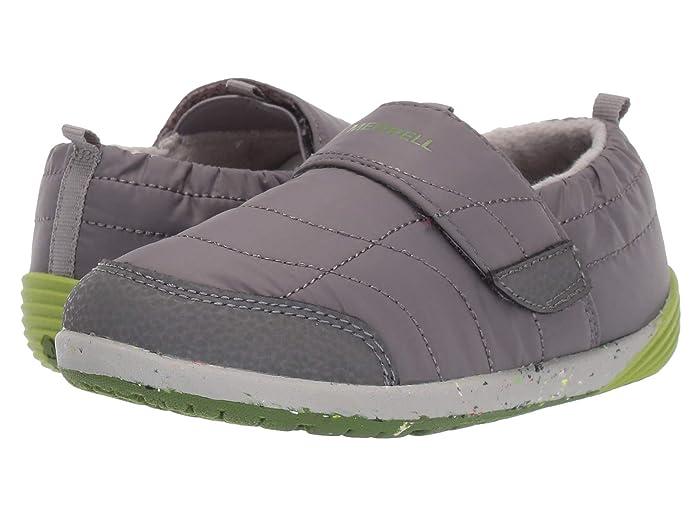 Merrell Kids  Bare Steps Hut Moc (Toddler) (Grey/Green) Boys Shoes
