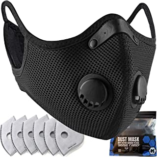 BASE CAMP M Plus Face Cover with Active Carbon Filter Combo Kit