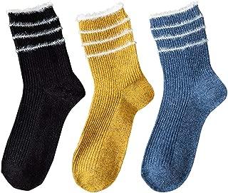 Women's Cute Crew Socks Soft Warm Ribbed Knit Wool Blend Cozy Casual Fall Winter Socks