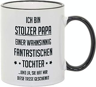 """Tasse mit Spruch/Schriftzug""""Ich bin stolzer Papa."""" als Geschenk zum Geburtstag, Vatertag oder zu Weihnachten"""