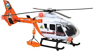 DICKIE TOYS Light and Sound SOS Rescue Helicopter with Moving Rotor Blades, 25