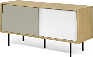 TemaHome, Dann, Credenza, Bianco (Bianco/Grigio), 135 x 45 x 65 cm