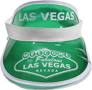 Las Vegas Poker Dealer Bingo Plastic Clear Visor Hat Fear & Loathing