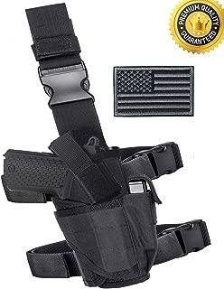 Carlebben Drop Leg Holster Molle Airsoft Holster Thigh Pistol Gun Holster Tactical Adjustable Right Handed