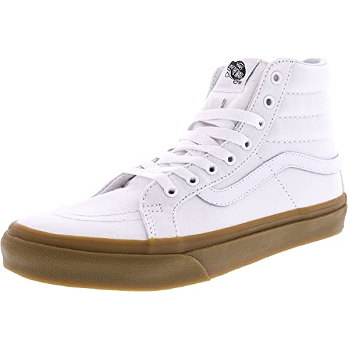 76006cafc6 Vans Sk8 Hi Slim Mens White Canvas High Top Lace Up Sneakers Shoes 6.5