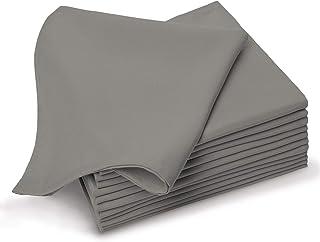 Pizuna Cotton Diner Napkin 24 Pack Cloudburst, 100% Long Staple Cotton Soft Absorbent Cloth Napkins, Soft Sateen Weave Reu...