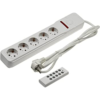 Steckdosenleiste Überspannungsschutz Funk-Fernbedienung Steckdose schaltbar 3