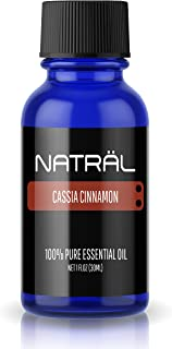 NATRÄL Cassia Cinnamon, 100% Pure and Natural Essential Oil, Large 1 Ounce Bottle