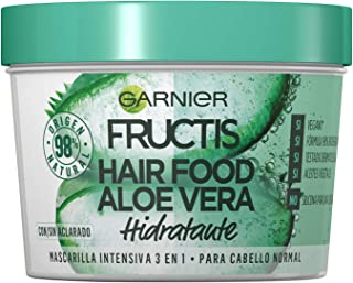 Garnier Fructis Hair Food Mascarilla Capilar 3 en 1 Aloe Vera Hidratante para Pelo Normal Pack de 3 330ml x 3 : Total de ...