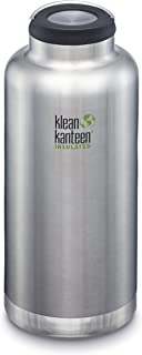 Klean Kanteen TKWide Stainless Steel Double Wall Insulated Water Bottle with TKWide Café Cap or Insulated Loop Cap