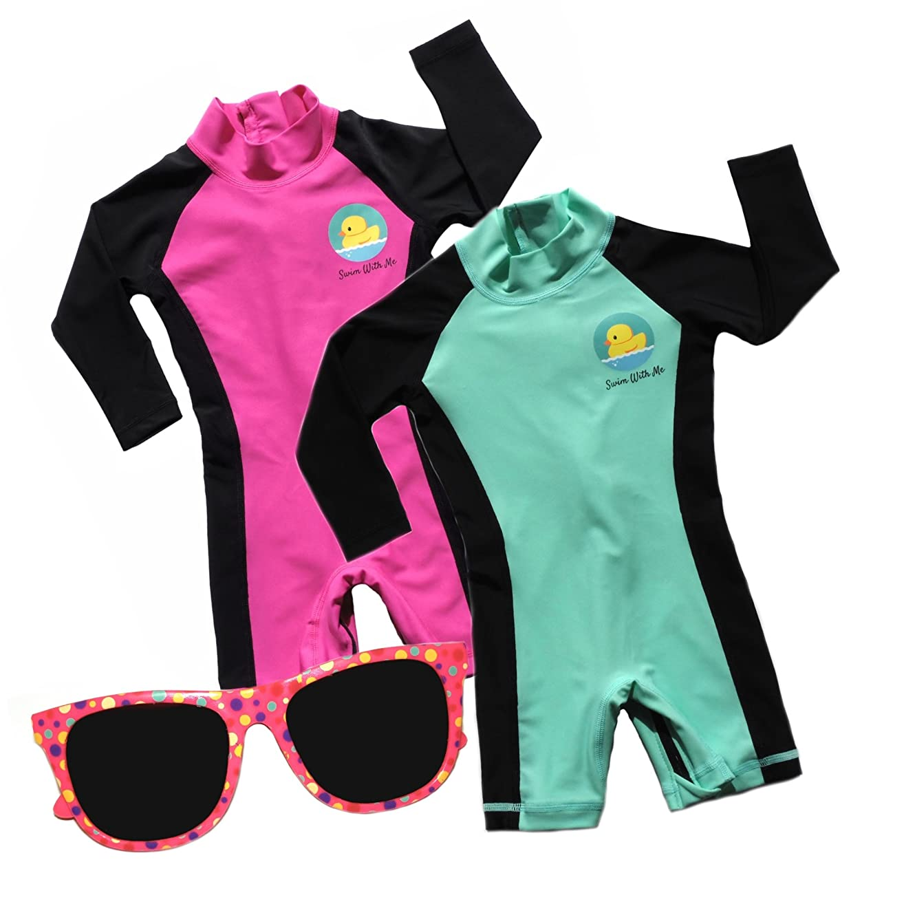 Swim with Me- SPF 50+ Total Sun Protection Swimsuit for Infant, Baby, Toddler, and Kids.