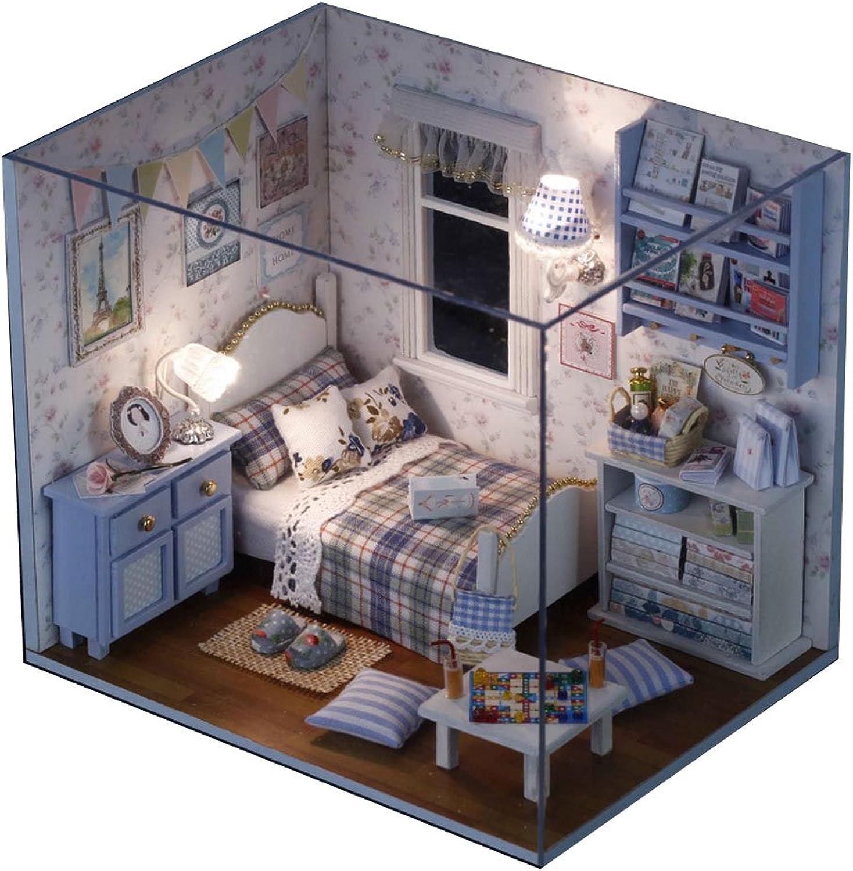 bluee Room Miniature House Manual Assembly Model