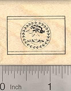 Flag of Belize Rubber Stamp, Central America, British Honduras