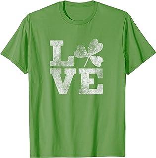 Lucky Irish St. Patrick's Day T-shirt Heart LOVE