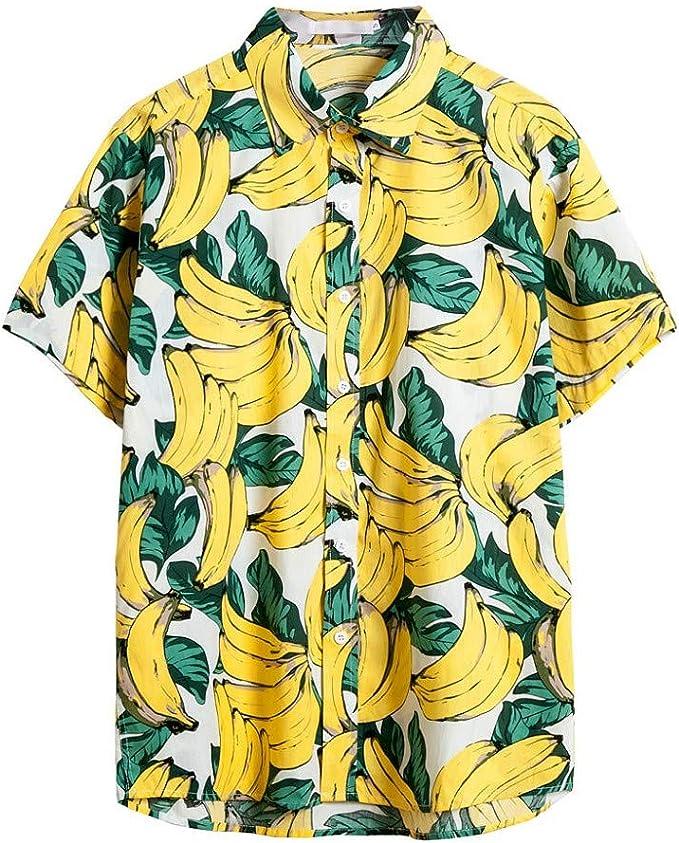 MMUJERY camisa hawaiana hombre verano Camisa de ...