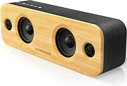AOMAIS Life Bluetooth Speakers, 30W Loud Wood...