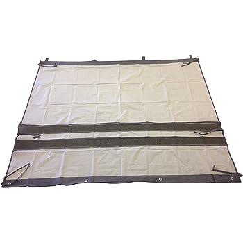 トレードワン ベランダカーテン エコガード 簡単取付 ホワイト グレー 幅180×高さ158cm(フック部含む) 日除け 雨よけ 陰干し 目隠し 防犯 ‐