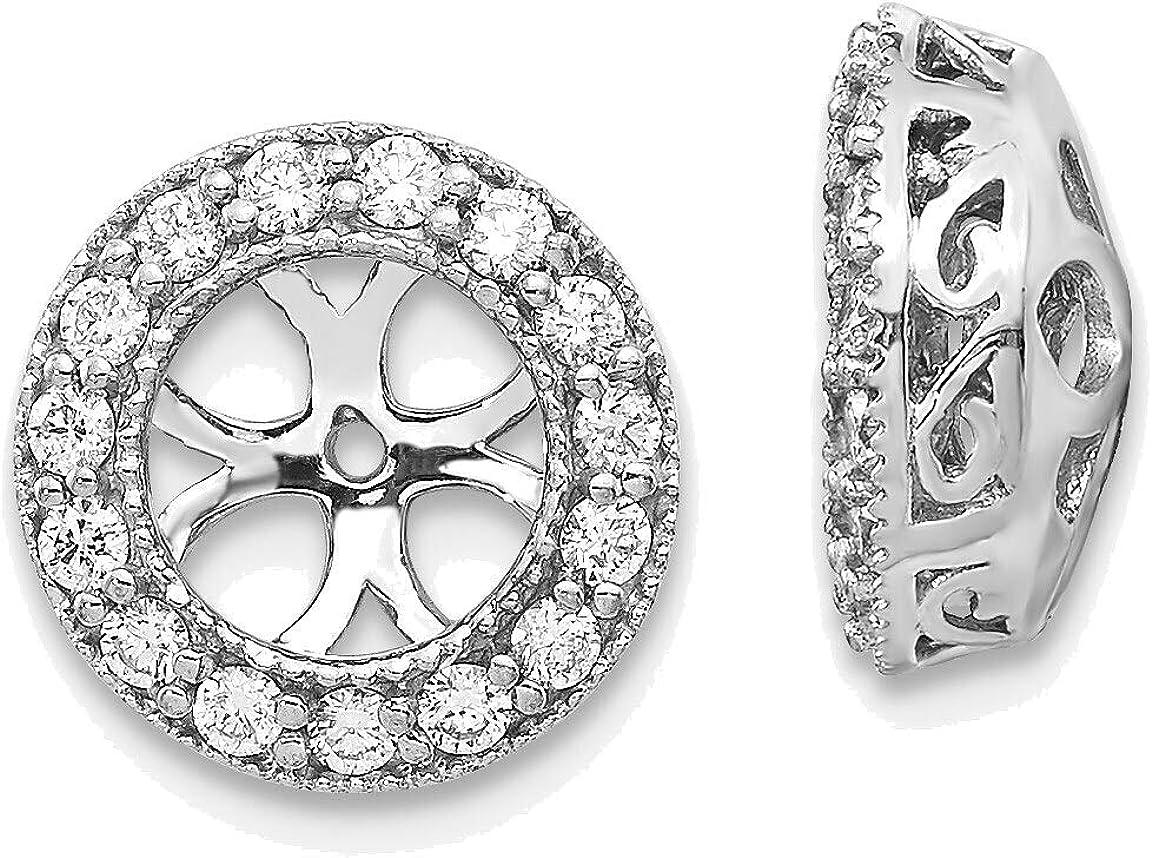 14kt White Gold AA Diamond Earring Jacket