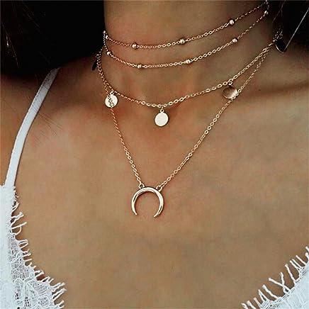 8m Nordvpn Simple Chapado en Oro Tassel Coin Bar Collar Clavícula Cadena Charm Joyería Plata*1 (E)