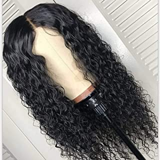 Deep Wave Wigs, VIPbeauty Brazilian Deep Wave Curly Human Hair Lace Front Wigs for Black Women 130% Density Glueless Lace Frontal Wigs with Pre Plucked Baby Hair(24