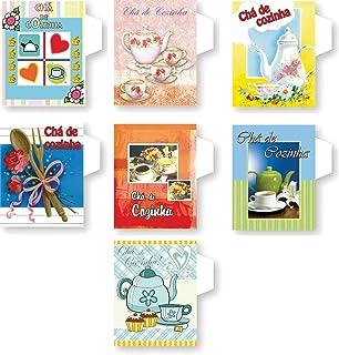 Cristina KIT-600, Convite Cha de Cozinha, Multicolor, Pacote de 400