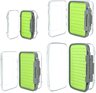 M MAXIMUMCATCH Maxcatch Two-Sided Waterproof Fly Box Easy Grip Foam Jig Fly Fishing Box