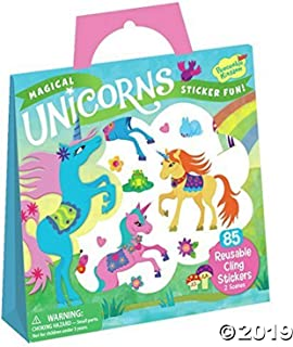 Peaceable Kingdom Magical Unicorns Sticker Fun! Reusable Sticker Tote