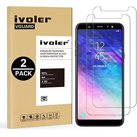 iVoler [2 Pack] Vetro Temperato Compatibile con Samsung Galaxy A6 Plus 2018 / A6+ 2018, Pellicola Protettiva, Protezione per Schermo