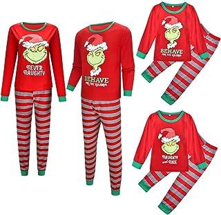 Pijamas de Navidad Familia a juego de Navidad Alien Pijamas Conjunto de Marvel Regalos para Niñas a juego Pijamas de Navidad