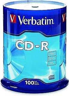 Verbatim CD-R 700MB 80 Minute 52x Recordable Disc - 100 Pack Spindle - 94554
