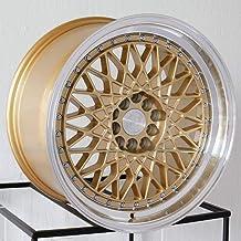 AodHan AH05 Wheel - Gold Machined Lip: 17x9 Wheel Size; 5x100/114.3 Lug Pattern; 73.1mm Hug Bore; 25mm Off Set.