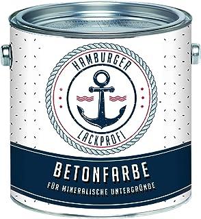 Betonfarbe SEIDENMATT Anthrazitgrau RAL 7016 Grau Bodenfarbe Bodenbeschichtung Betonbeschichtung Fassadenfarbe // Hamburger Lack-Profi 2,5 L