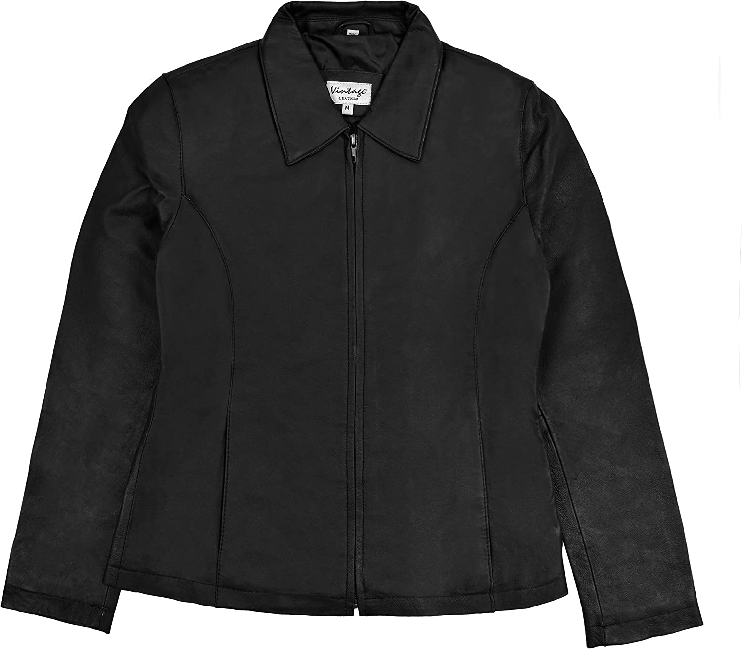 Victory Outfitters Ladies' Beauty products Genuine Gorgeous Leather Up Zip Jacket Lined