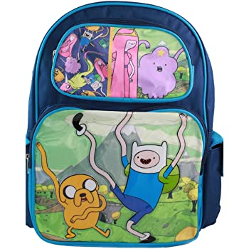 Adventure Time Small Backpack Jake Finn Friends 12 Boys Toddler Book Bag