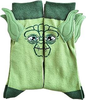 Adult baby ears socks Men's Novelty Socks Crew cotton Socks funny green socks Crazy Socks (7-10)
